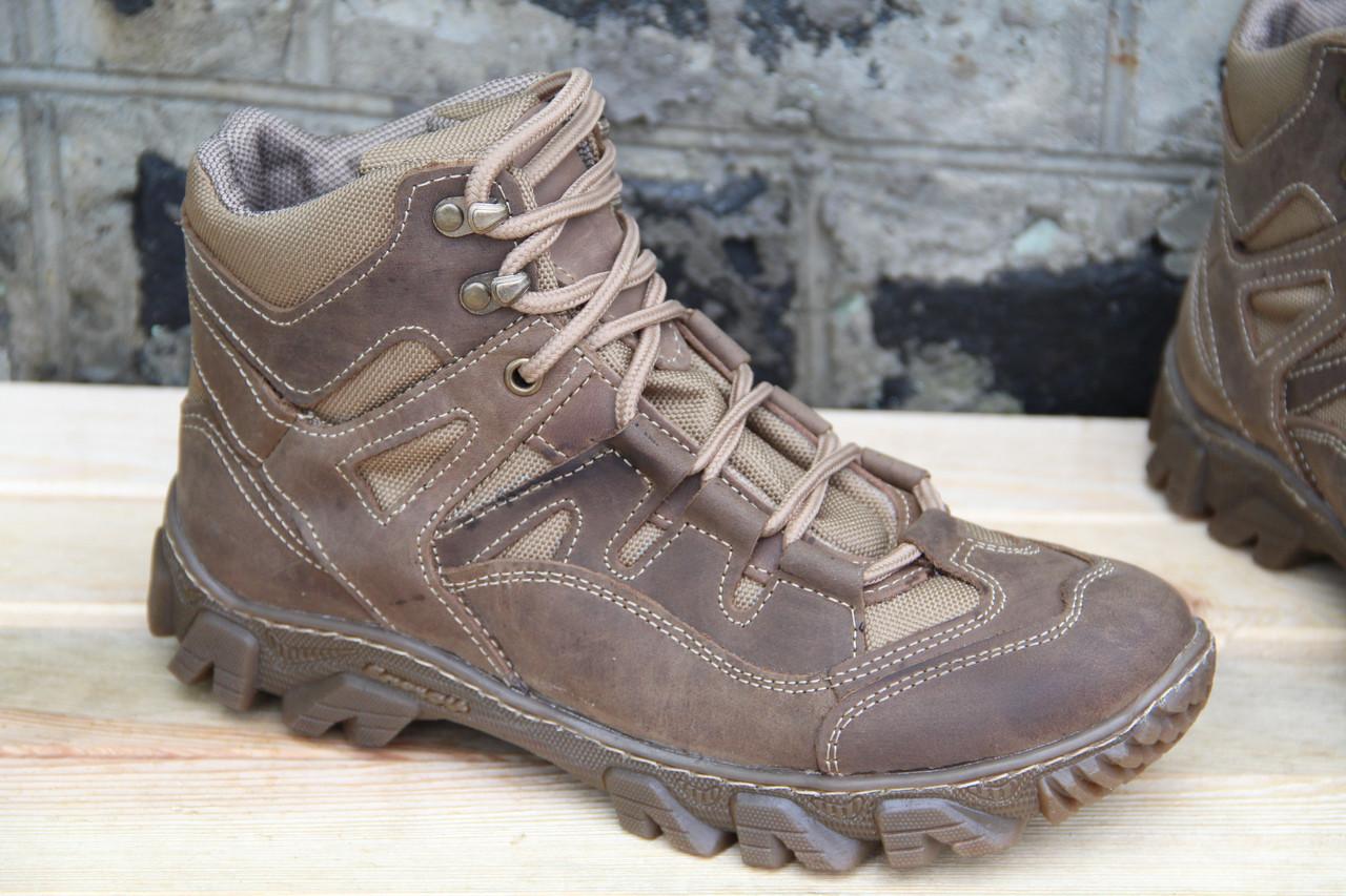 Тактические ботинки берцы из натуральной кожи (Хищник), койот