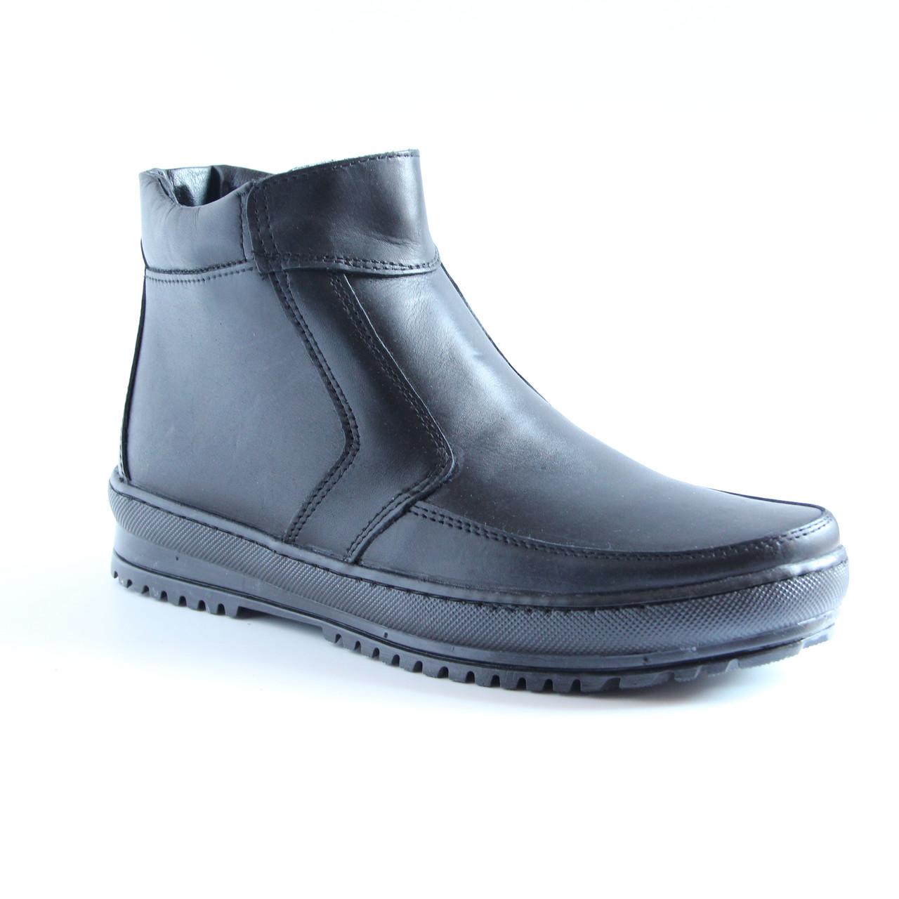 Мужские кожаные зимние ботинки АН на молнии