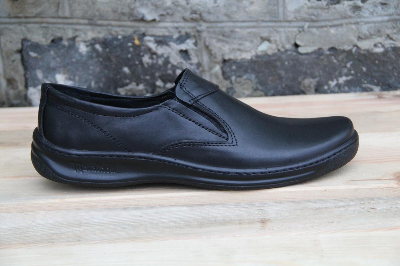 Туфли мужские из натуральной кожи на резинке АН 15
