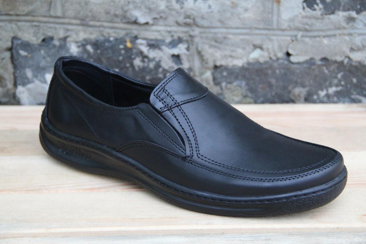 Туфли мужские из натуральной кожи на резинке АН 12