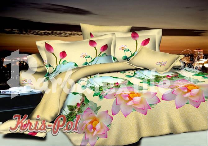 Постельное бельё полуторное 150*220 хлопок (4648) TM KRISPOL Украина, фото 2