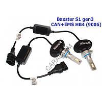 Лампи світлодіодні Baxster S1 gen3 HB4 (9006) 6000K CAN+EMS (2 шт), Лампи, світлодіодні, Baxster, S1, gen3, HB4, (9006), 6000K,