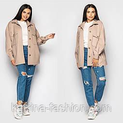 Женское пальто-рубашка на пуговицах (в расцветках)