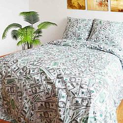 Комплект постельного белья Царский Дом ДОЛЛАРЫ $ (Бязь, 100%хлопок) двухспальный