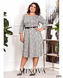 Трикотажне жіноче плаття великий розмір: 50,52,54,56,58,60, фото 2