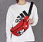 Поясная сумка, бананка adidas Mickey Red (красная), фото 6
