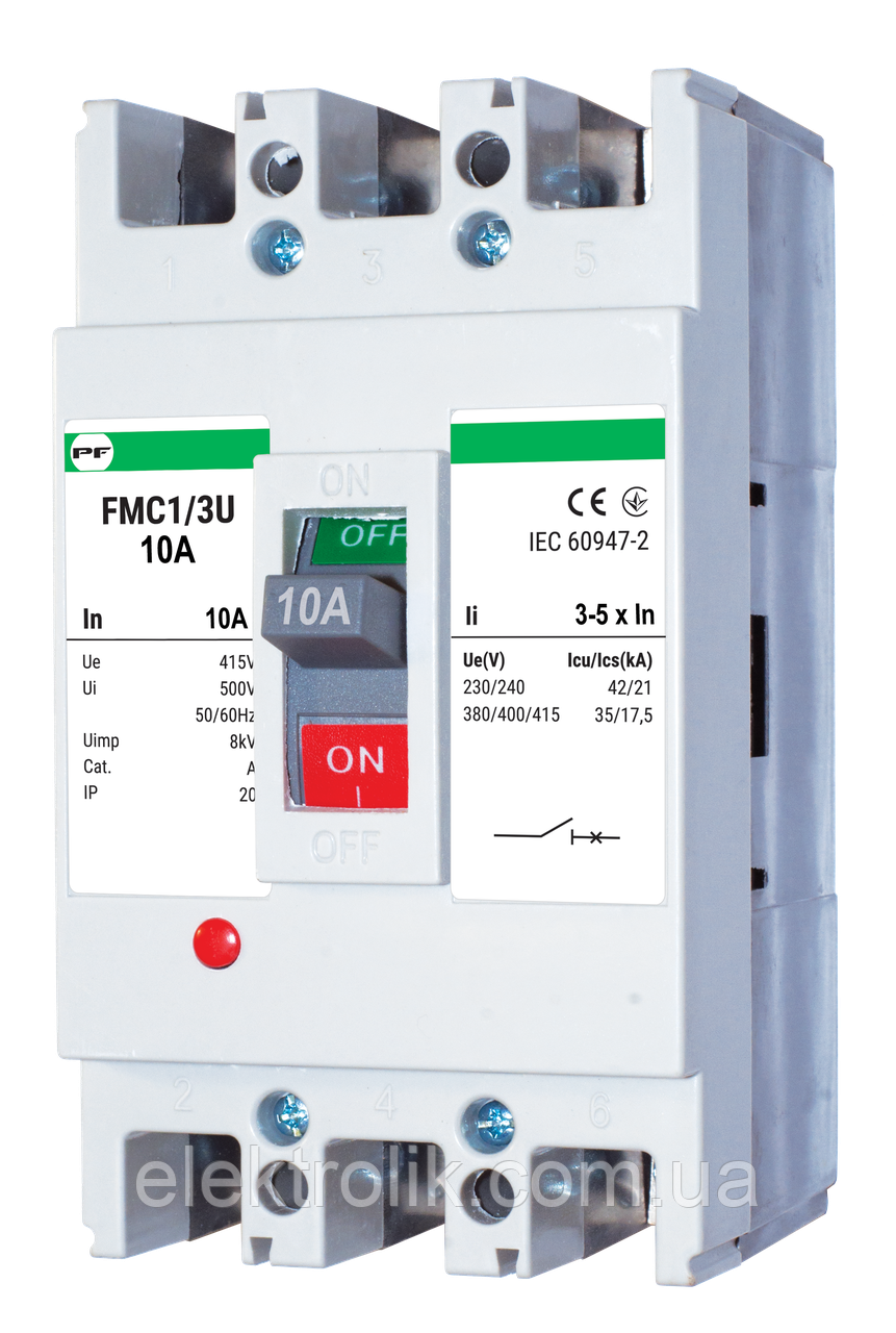 Автоматичний вимикач FMC1/3U     3-5In  3P  In=50А
