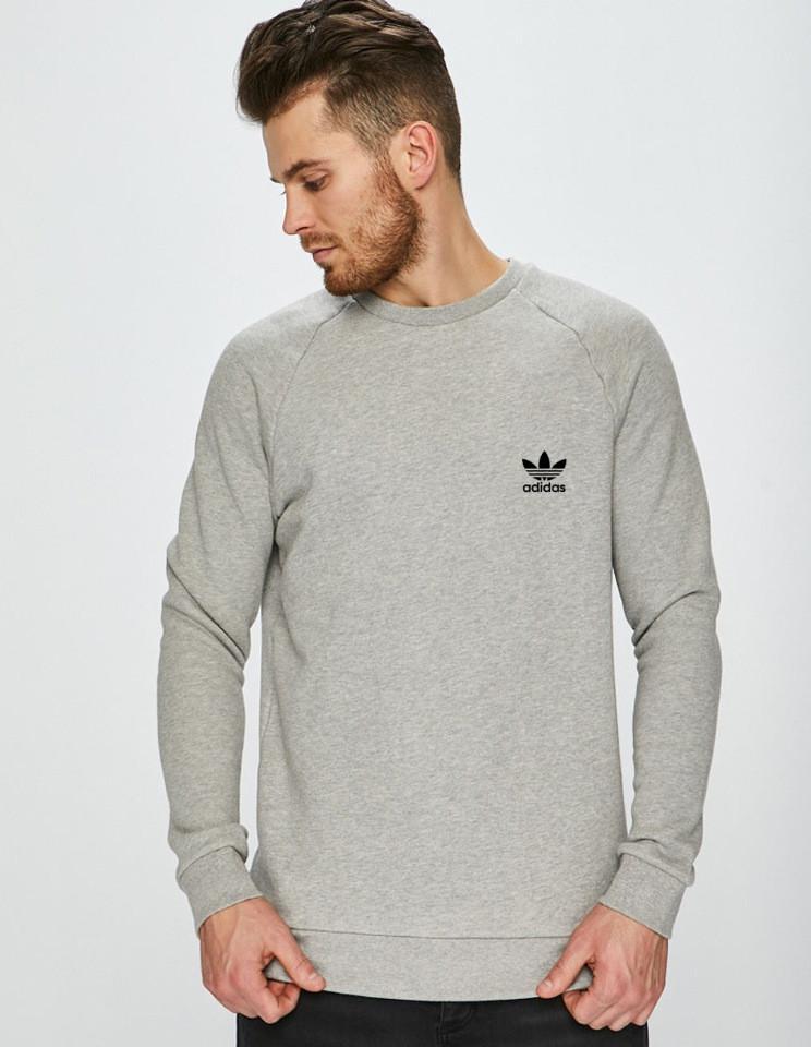 Мужская кофта Adidas (Адидас) серая