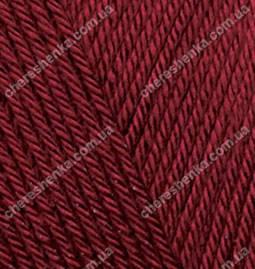 Нитки Alize Diva 57 бордовый, фото 2