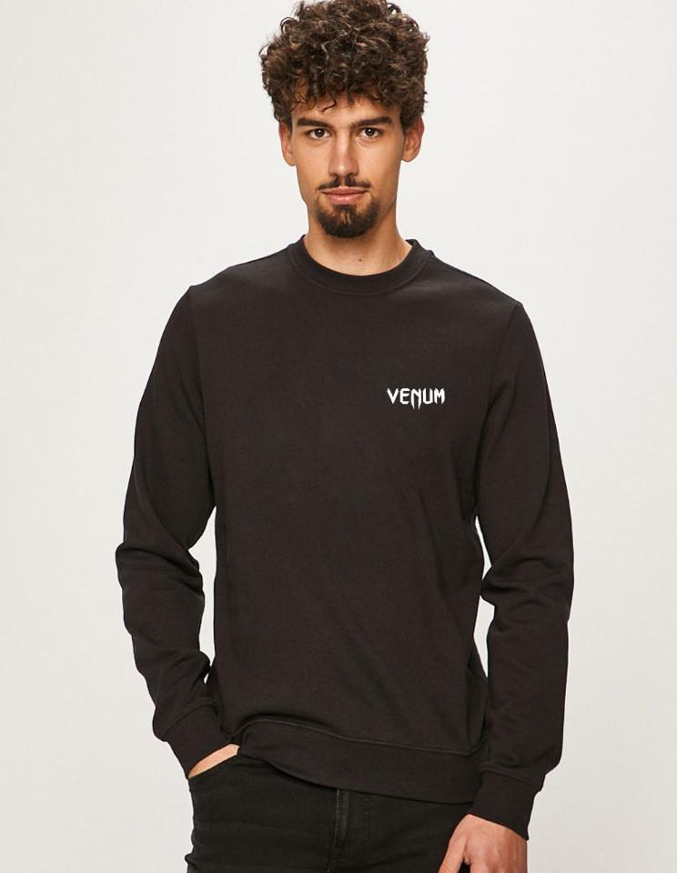 Мужская спортивная кофта свитшот, толстовка Venum (Венум) черная