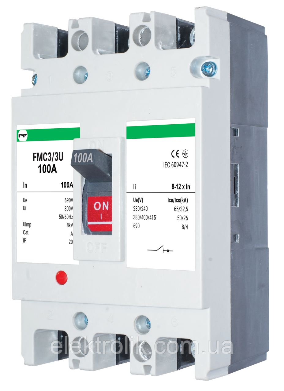 Автоматический выключатель FMC3/3U    8-12In  3P  In=250А