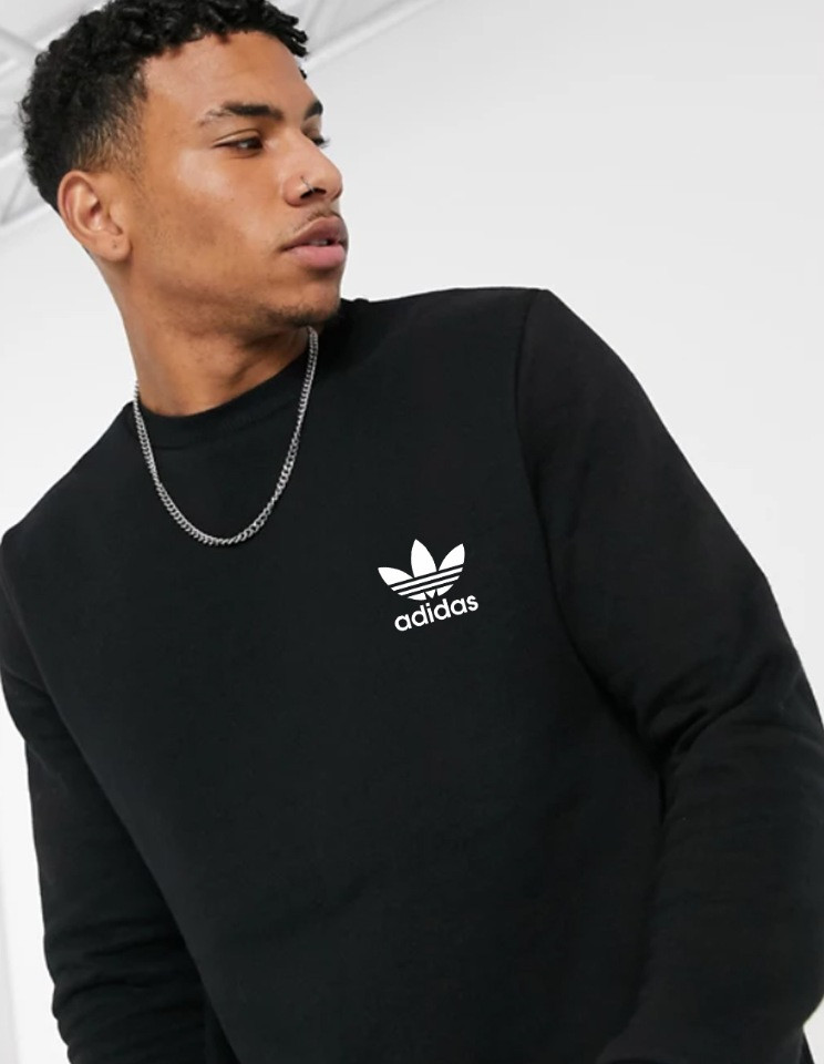 Мужская спортивная кофта свитшот, толстовка Adidas (Адидас) черная