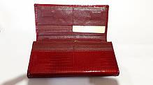Кожаный кошелек красный на магните женский лаковый Mario Dion 801А, фото 2