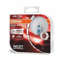 Лампа галогенна OSRAM 64212NL H8 Night Breaker LASER NG +150% 12V 35W PGJ19-1 HardDuopet, Лампа, галогенна, OSRAM, 64212NL, H8,