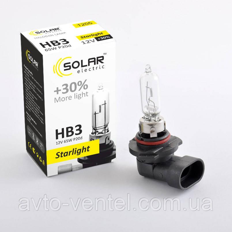 Галогенная лампа Solar HB3 StarLight +30% 12V 1205