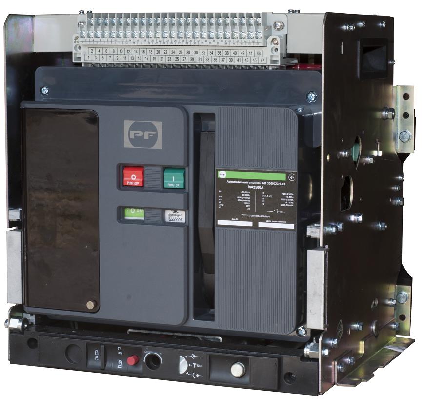 Воздушный автоматический выключатель FMC8A (висувний)    3P  In=2000А