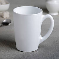 Белая чайная конусная кружка Luminarc Opal New morning 320 мл (P1669)
