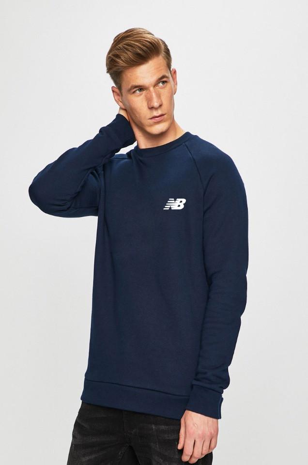Мужская спортивная кофта свитшот, толстовка New Balance (Нью Беленс) синяя