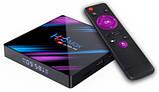 Нові 4K Android Smart TV, H96 MAX TV box, IPTV, TB/TV приставка 4/32 GB Android 9 НАЛАШТОВАНА, фото 7