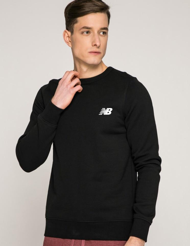Мужской спортивный свитшот New Balance (Нью Беленс) черная