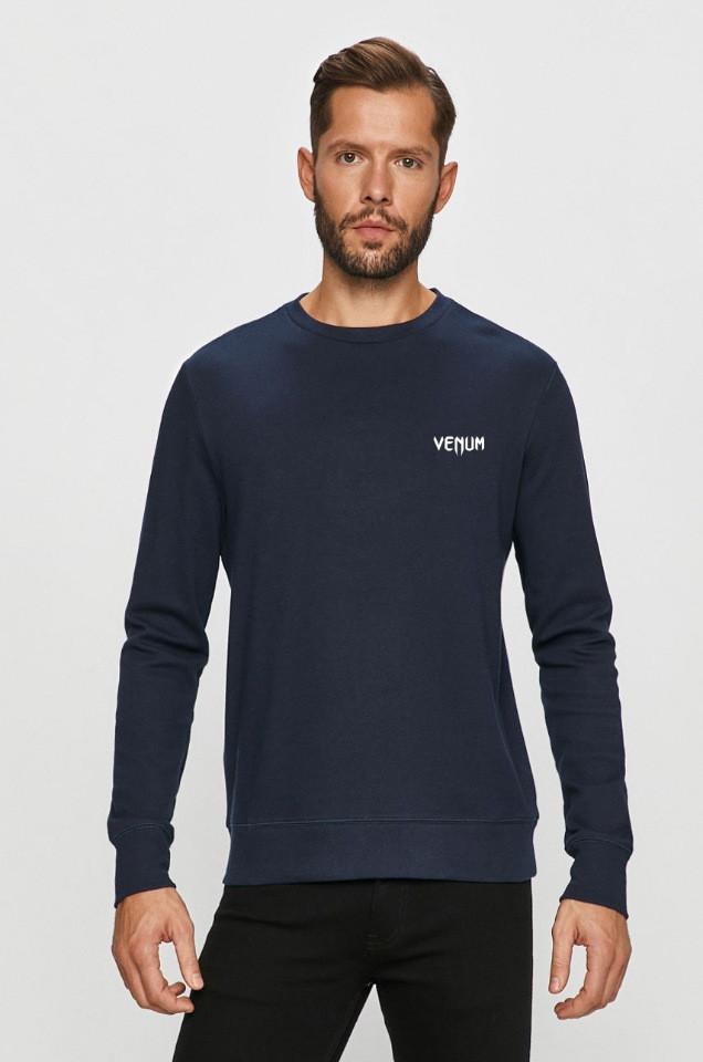 Мужская спортивная кофта свитшот, толстовка Venum (Венум) синяя