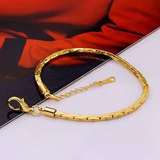 """Тонкий жіночий браслет джгут позолота жовте золото 18К """"Тяжіння Космосу"""", фото 2"""