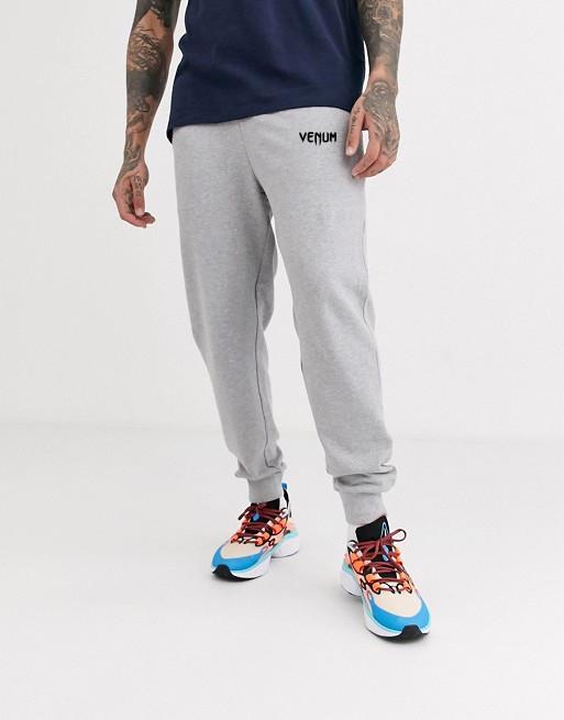 Мужские спортивные штаны Venum (Венум) с лампасами серые