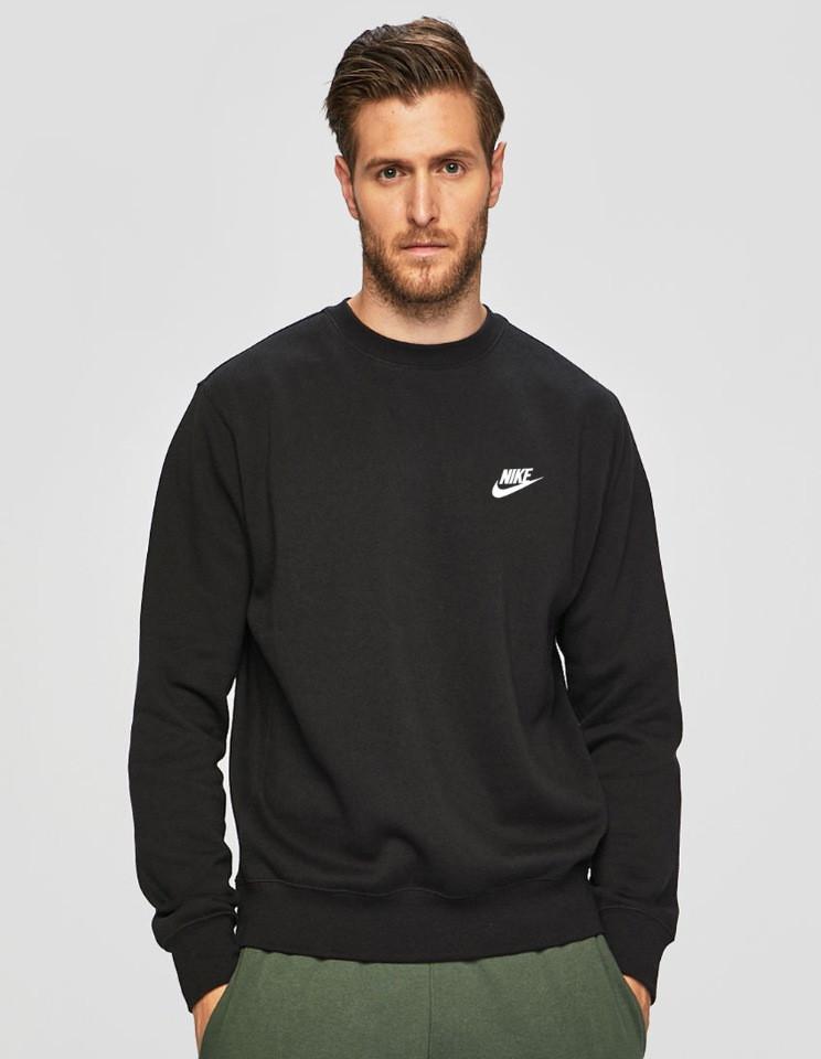 Мужская спортивная кофта свитшот, толстовка Nike (Найк) черная