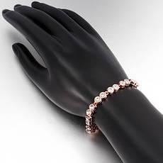 """Стильный женский браслет """"Сафарис"""" позолота розовое золото 18К чешские кристаллы, фото 2"""