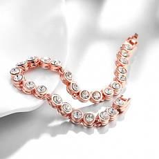 """Стильный женский браслет """"Сафарис"""" позолота розовое золото 18К чешские кристаллы, фото 3"""