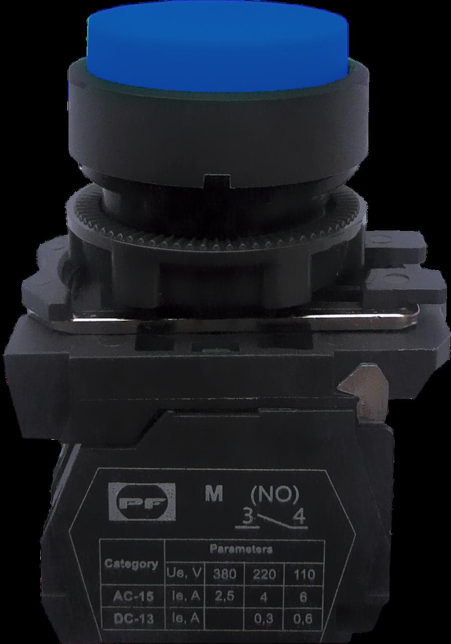 Выключатель кнопочный FP PCPB (выступающая голубая кнопка без фиксации) 1NO
