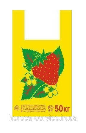 Пакет майка №4 FRUITS 100 шт.