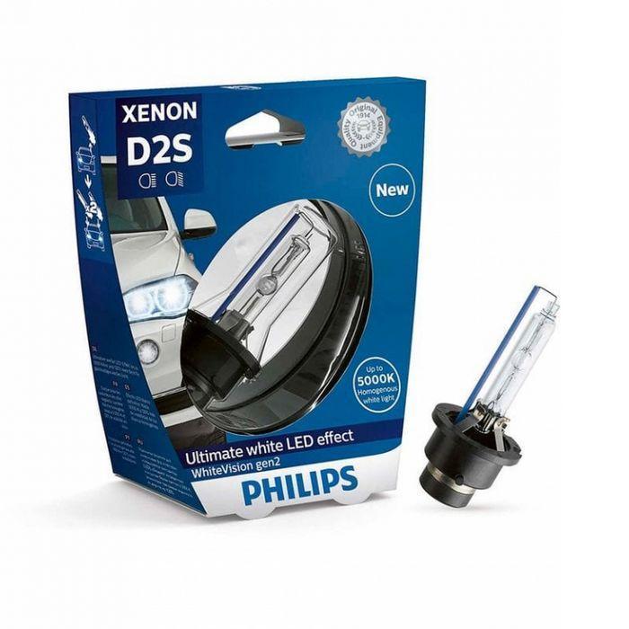 Лампа ксеноновая Philips D2S WhiteVision gen2 85V 35W 5000K (85122WHV2C1) -1шт.