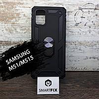 Противоударный чехол для Samsung M51/M515 Serge Ring Черный, фото 1