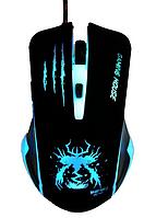 [ Игровая мышка Wolf Domain M70 с подсветкой 3200 dpi original ] Проводная светодиодная мышь 6 кнопок