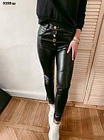 Стильні жіночі легінси з екошкіри батал 9399 ш