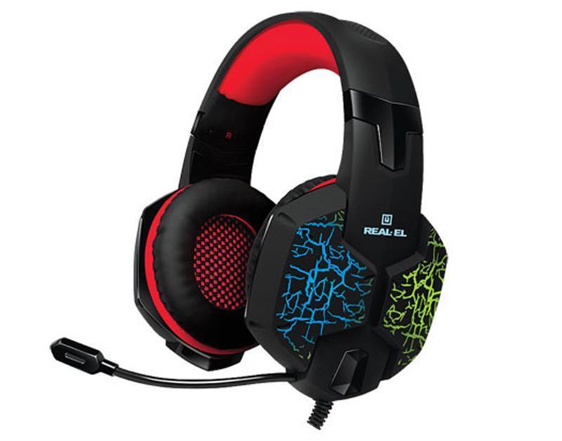 Гарнітура REAL-EL GDX-7750 Black/Red UAH