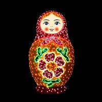 """3D фигура светодиодная """"Матрешка"""", оранжевая"""