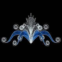 """Фонтан светодиодный """"Фантазия"""", бело-голубой"""
