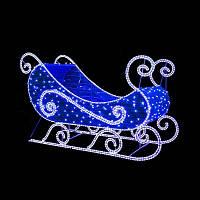 "3D фигура светодиодная ""Сани Деда Мороза"", 2.0х1.25х1.0м, 166 Вт,"