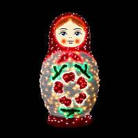 """3D фигура светодиодная """"Матрешка"""", белая"""