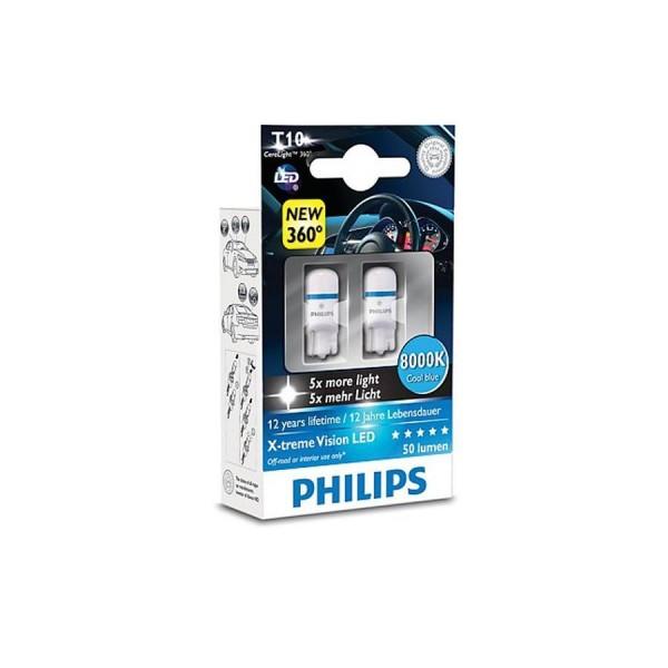 Philips X-tremeVision LED 12799 T10 W5W 8000K