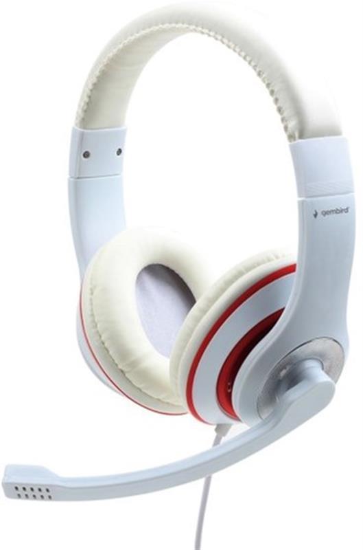 Гарнітура Gembird MHS-03-WTRD White/Red