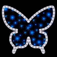 """Мотив светодиодный универсальный """"Бабочка"""", 0.4х0.5 м, 11 Вт, сине-белая"""