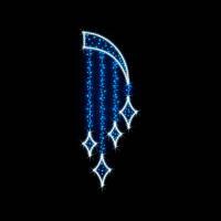 """Кронштейн наопору светодиодный """"Бахрома"""", 1.0х2.5 м, 36 Вт"""