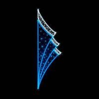 "Кронштейн наопору светодиодный ""Уголки"", 2.5x0.72 м, 44 Вт"