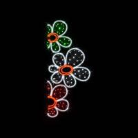 "Кронштейн наопору светодиодный ""Цветы"", 2.5x1.1 м, 59 Вт"