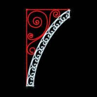 """Кронштейн наопору светодиодный """"Вензеля"""", 2.6x1.45 м, 93 Вт"""