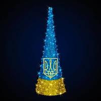 """Ёлка конусная светодиодная  """"Украина"""", 3.0x1.0м"""