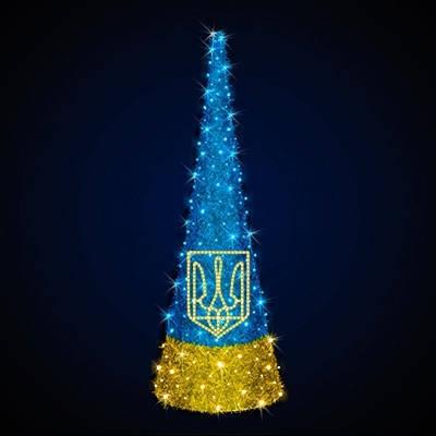 """Ёлка конусная светодиодная  """"Украина"""", фото 2"""